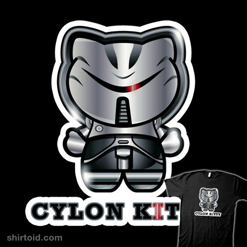 Cylon Kitty available at Redbubble