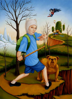 Adventure Time by Isabel Samaras. I love Adventure Time and this is a great interpretation (I wish he had a cooler sword though… maybe the demon blood sword…lol)