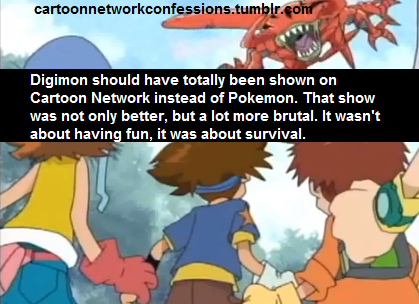 …welp… gotta say… I love Digimon and despise 90% of the Pokemon fandom because of their constant hatred. I have never believed it was a rip-off of Pokemon, and it does not deserve to be treated as such (in my personal opinion).