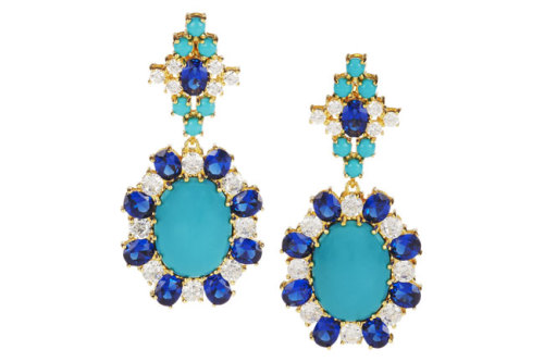 Add some sparkle to your next party outfit with a glam pair of jeweled earrings. Check out our faves for the season » netaporter.com