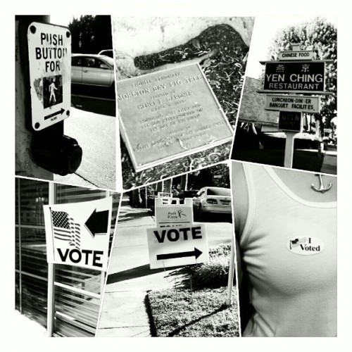I voted! #walk #signs #voted #11062012 #chinesefood #plaque #rockthevote