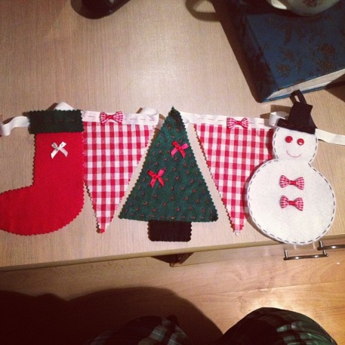 My bunting is all ready to be hung on the 1st December! Can't wait!