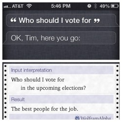 Nicely played, Siri / Wolfram|Alpha!