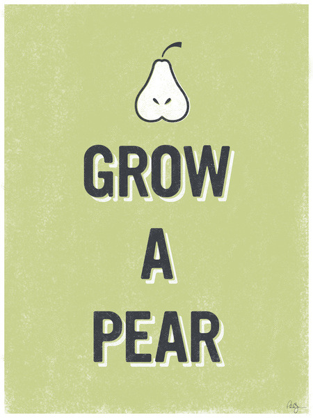 phildesignart:  Grow A Pear by Phil Jones