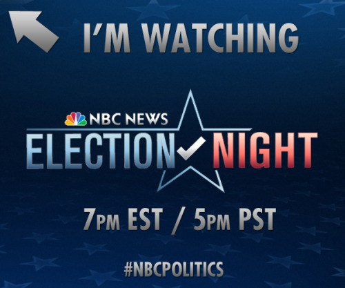 Share this if you're watching Election Night 2012 on NBC. Who do you think will be elected president?For more ways to experience live coverage, highlights and analysis from NBC Politics, visit http://nbcnews.to/U6KoUW