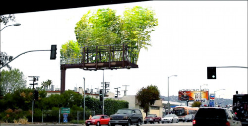 THIS IS GREAT! A totally fascinating solution for a challenging urban space. alishahenson:  I seriously love this so much. I worked in advertising for a bit and I think this is the best use of a billboard I've come across in awhile! Check out more of the project here: Urban Air.