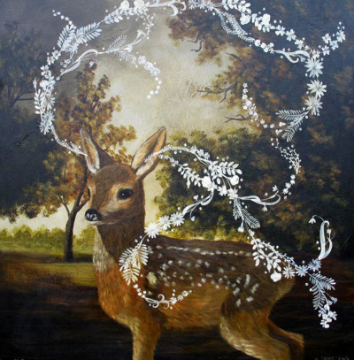 cavetocanvas:  Anne Siems, What the Fawn Heard, 2010