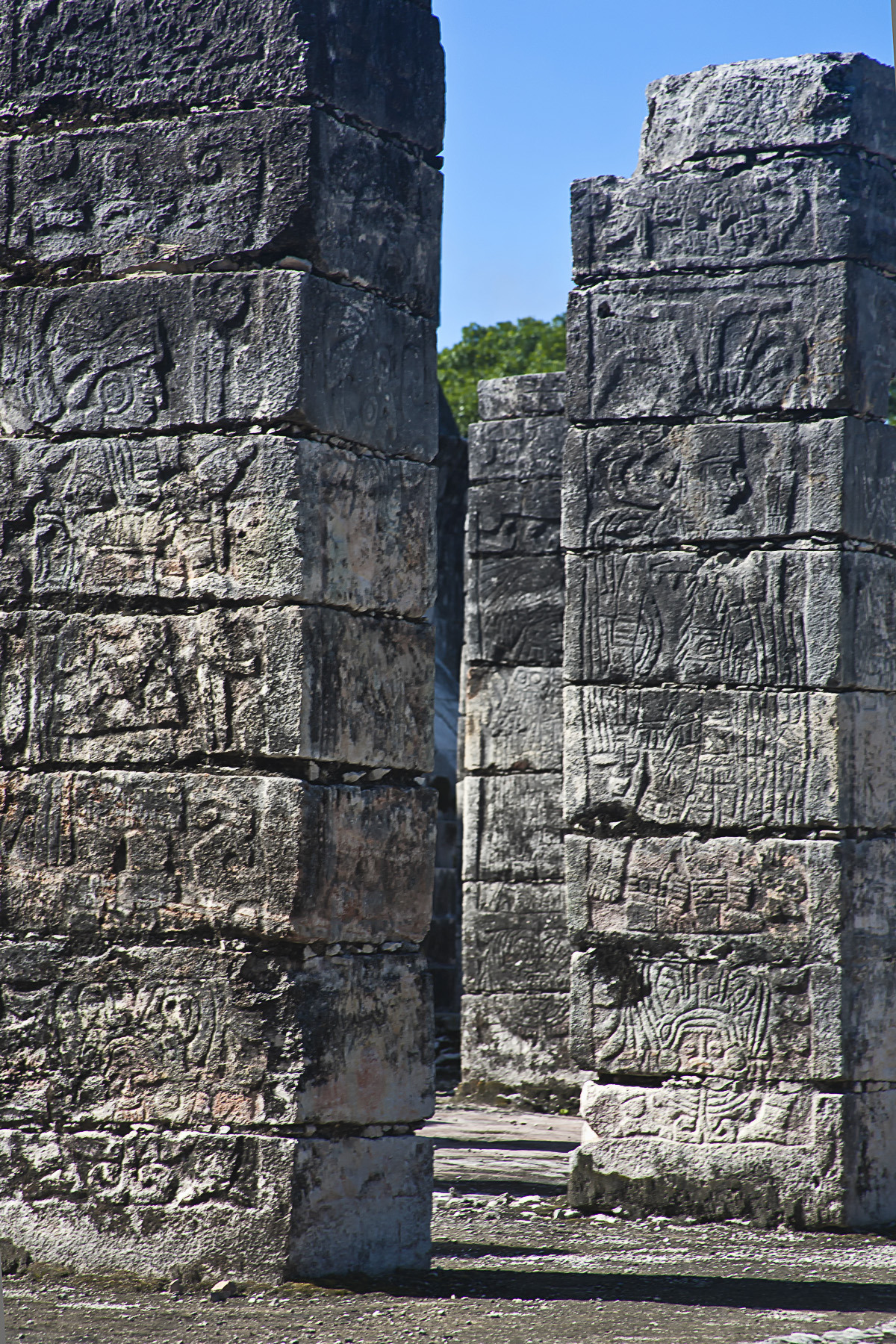 ancientart:  Group of a columns, Chichen Itza detal Photo courtesy Thomas Jacob1
