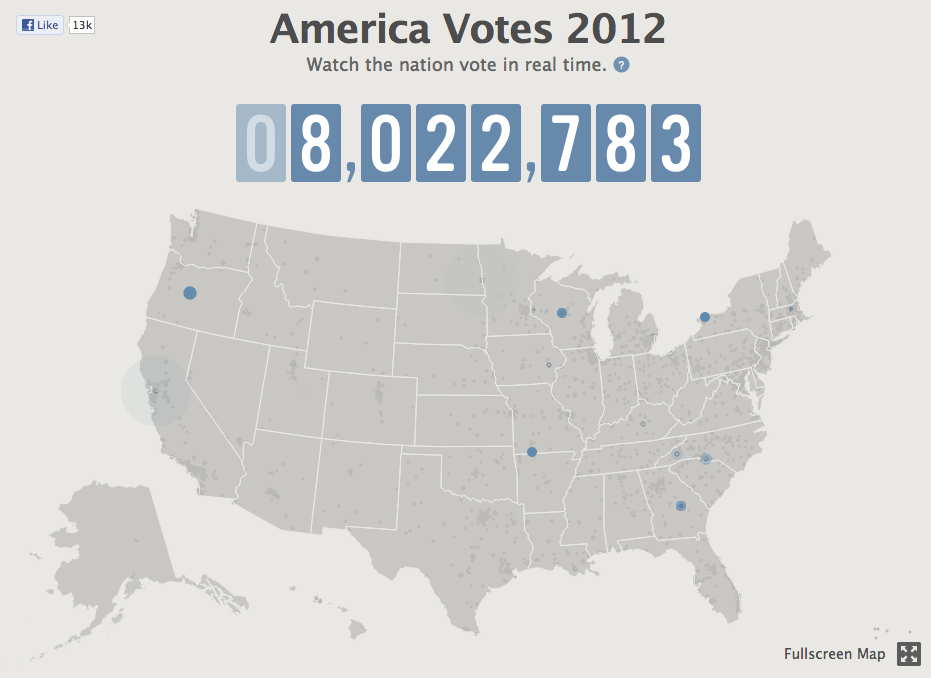 Watch The Nation Vote In Real Time If you believe Facebook, that is…