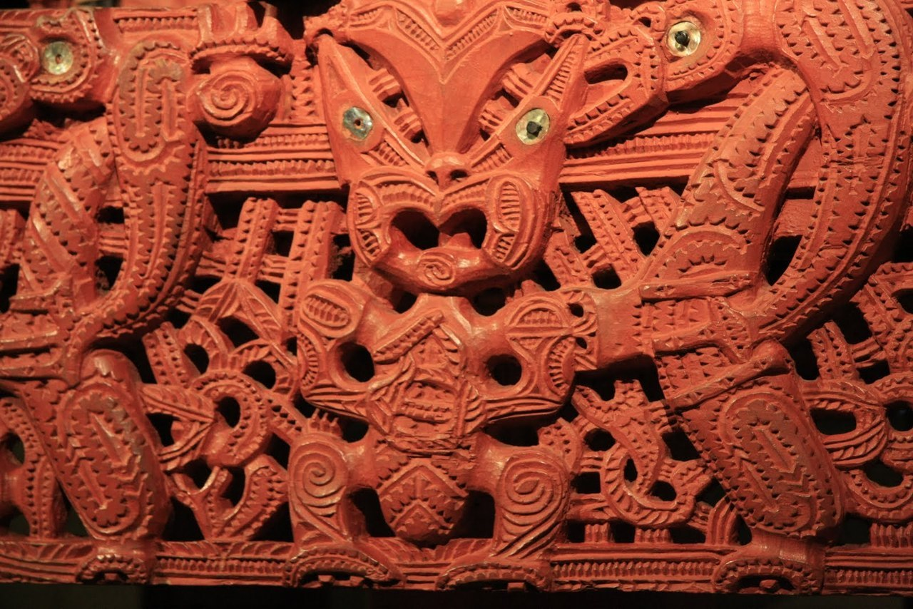 Maori carving. Courtesy & currently located at the Auckland War Memorial Museum, New Zealand