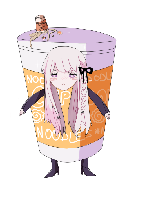 dryjuice:  transparent kirigiri in a cup noodle costume for your blogging needs