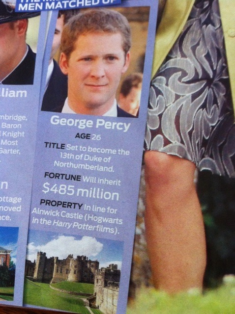 abbigshmail:  angelitair:  Forget prince Harry, George Percy comes with Hogwarts  Can we talk about how he has two Weasley names?