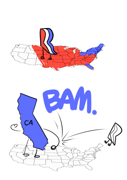 desaturated-toast:  sheebiejeebies:  cubeybooby:  this is how the election's gonna go down  basically  I'm mostly reblogging because this happened and Washington also weighed in shortly after and watching the numbers go up was just kind of HOLY SHIT THAT ESCALATED QUICKLY …MAN THESE MAPS ARE FUN.