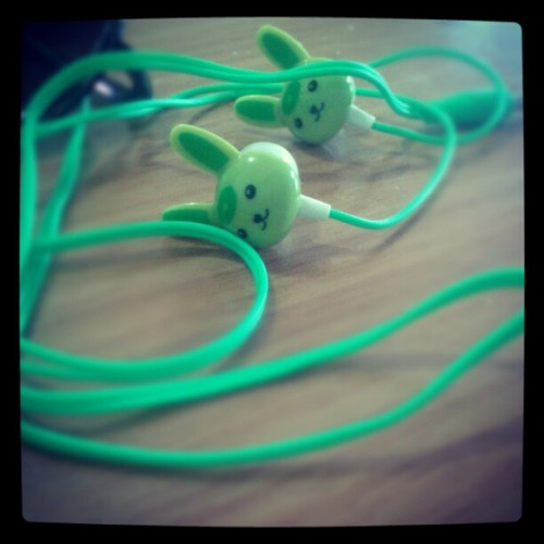 My #Green #Rabbit #Earphones #instapic #picoftheday #followback