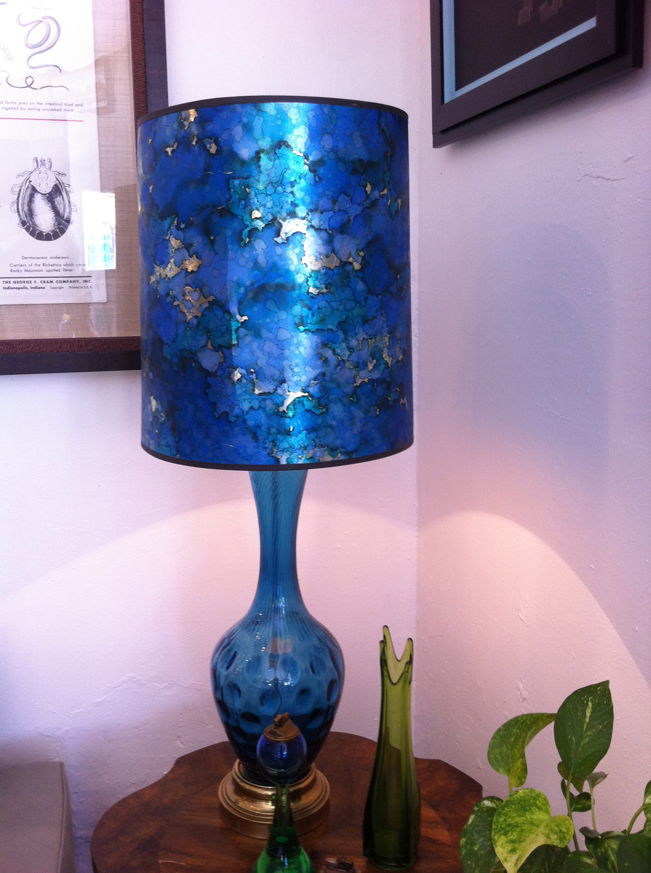 This great lamp, along with many other fabulous things, are now available on my etsy site!  Much more to come in the next days, too!  http://www.etsy.com/shop/calamitydane