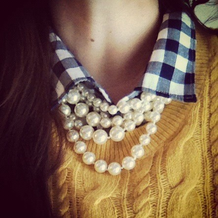Cable, Pearls, & Check - a few of my favorite things..