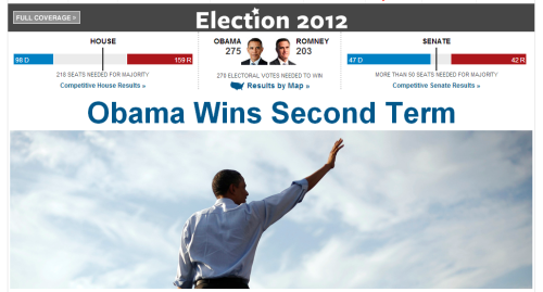 Our homepage right now