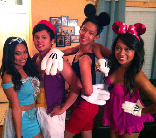 Submitted by davilicious16.  Princess Jasmine, Aladdin, Mickey, & Minnie!