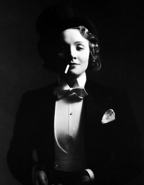 Marlene Dietrich photographed for Morocco by unknown; 1930.