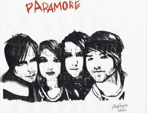 Paramore Fan Art. Did this a few years back.