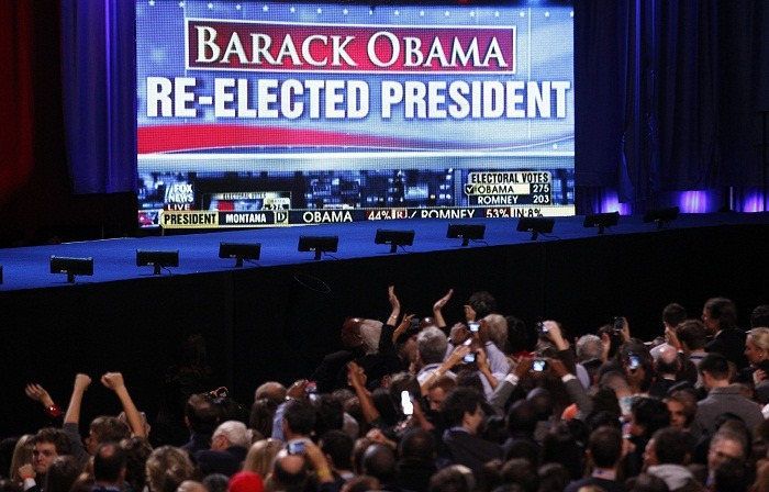 We do a little bit of politics too!  Barack Obama is reelected.