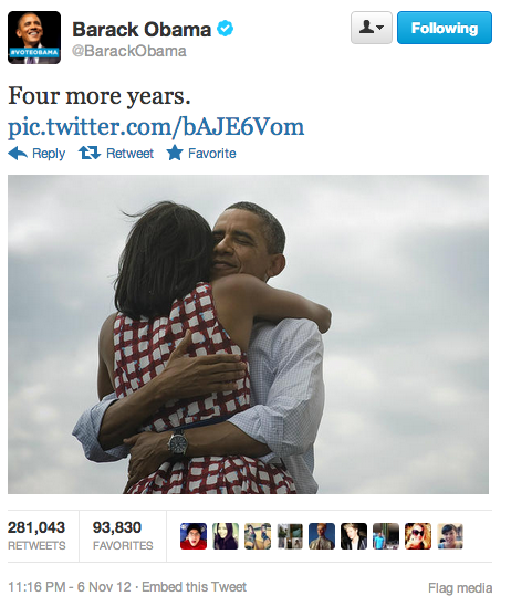 newsweek:  This is now the most retweeted tweet of all time.