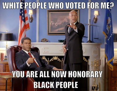 Click the image to watch Obama and Luther celebrate tonight's big victory. An all-new Key & Peele airs tomorrow at 10:30/9:30c.