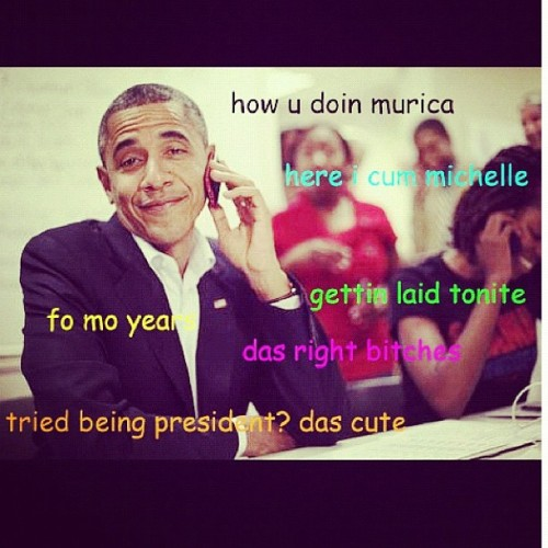 dearlondraa:  OMGG DEADDD! 😂😂😂😂😂 #obama #obama2012 #presidentalelection #funny