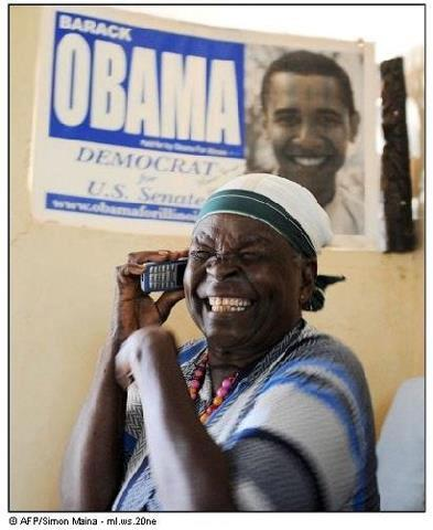 nigeriantomboy:  ourafrica:  Obama's grandmother full of joy. This is Africa, our Africa  Awww :')