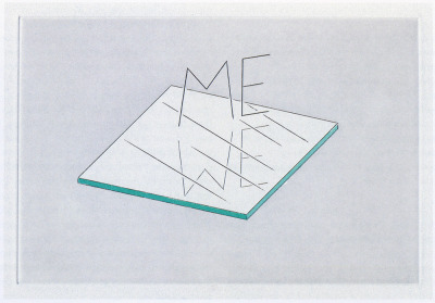 iheartmyart:  Markus Raetz, ME/WE, 2007, photogravure and colour aquatint, 16 x 23.5 cm
