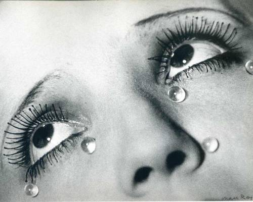 neonponies:  Man Ray, Glass Tears (Les Larmes), 1932 (via slowartday)