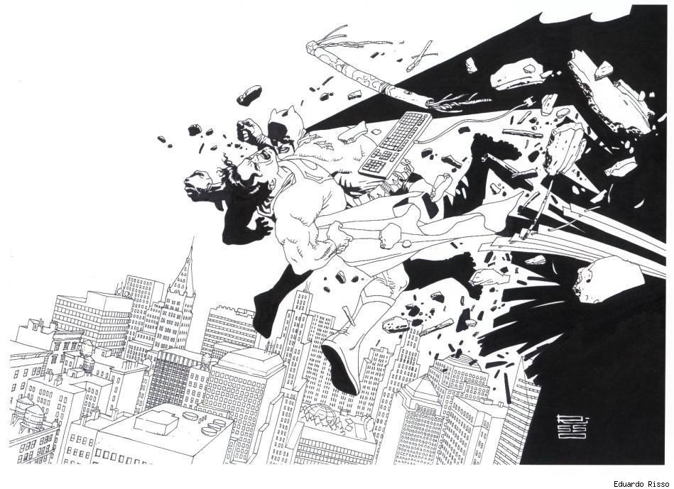 Superman vs Batman by Eduardo Risso