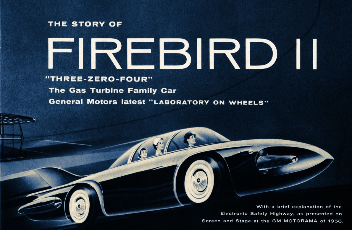 1956 GM Firebird II Concept  brochure cover