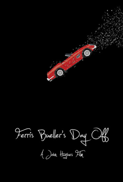 minimalmovieposters:  Ferris Bueller's Day Off by Jordan A   I just watched this tonight! Finally.