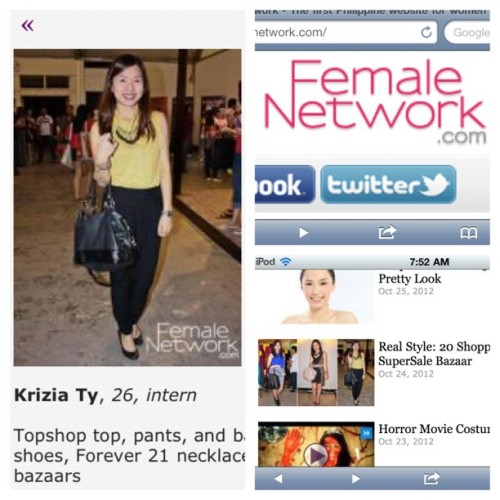 #FemaleNetwork .com #feature hihi ;p thank you! <3 (at World Trade Center Tent)