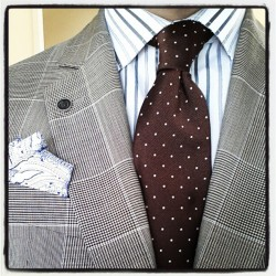 mikedarcyhughes:  Pattern mixing level: Advanced. #menswear #fashion