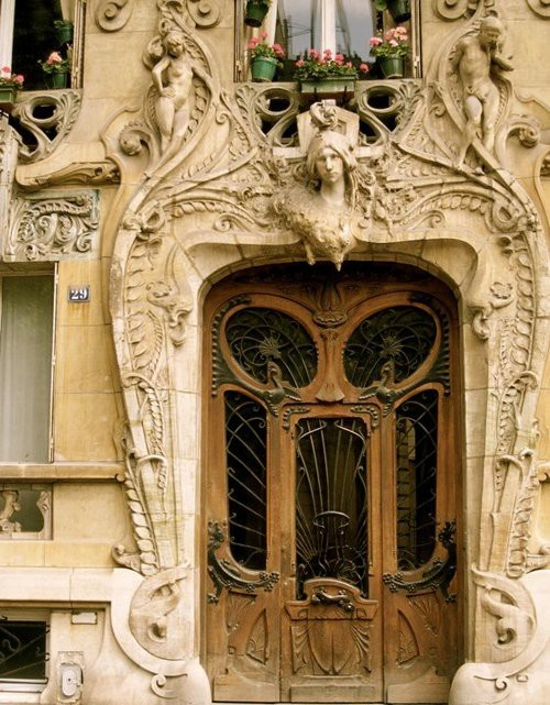 Art Nouveau entrance in Paris