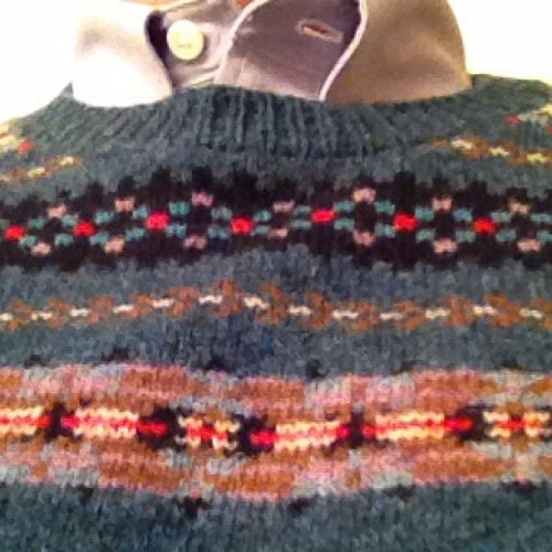 Solid warmth fair isle sweater from @jcrew