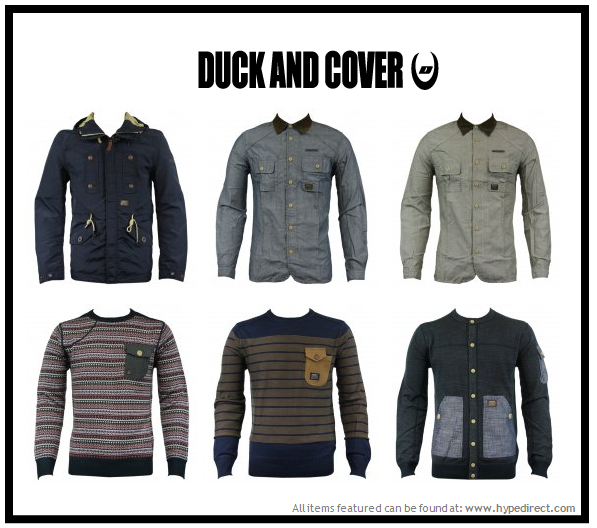 Brand New In! Duck & Cover fans will be more than pleased with our brand new range of shirts, polo shirts & many many more from the huge British brand! Why not treat yourself to a brand new Duck & Cover jackets for winter or one of our cosy Duck & Cover jumpers for these chilly autumn nights? View our full range of Duck & Cover here For our latest offers and new arrivals to our online stores follow us on: