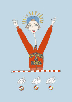 chicken & fries - irene ghillani illustration