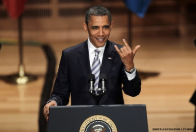 Rock on, Prez.