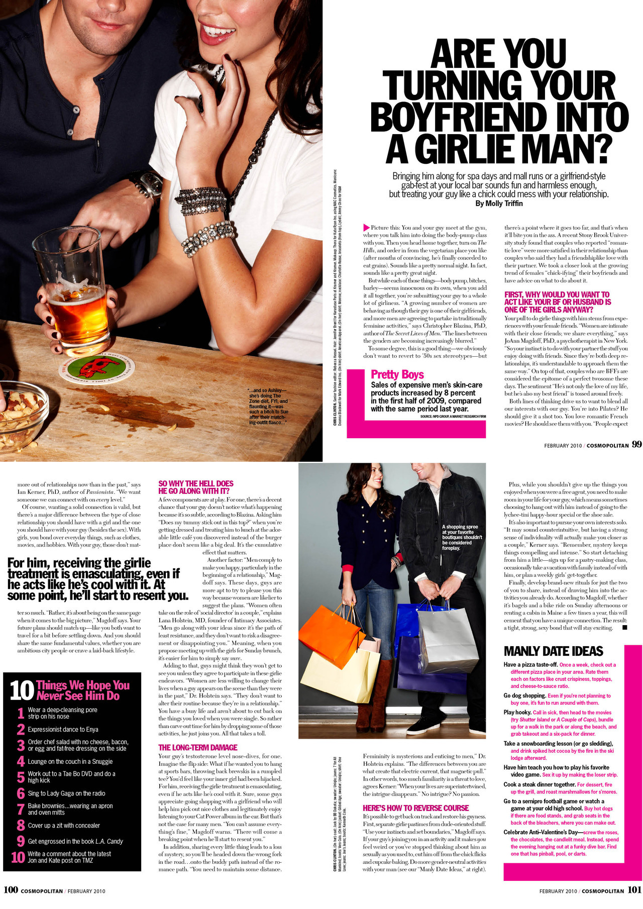 Are You Turning Your Boyfriend Into a Girlie Man? (click to view larger)