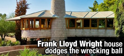 An anonymous buyer steps forward to purchase a Frank Lloyd Wright-designed home from developers who had planned to raze it — a mere week before Phoenix's city council was scheduled to vote on the home's landmark status.