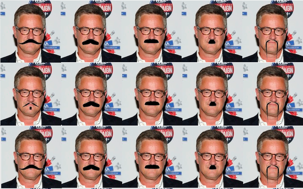 "A Few Moustache Recommendations for Joe Scarborough  The terms of the Scarborough's bet with the impeccably moustachioed David Axelrod were: if Obama lost Minnesota, Michigan or Pennsylvania then David Axelrod would shave his moustache ""of forty years"" live on Morning Joe. But if Obama won Virginia or Florida then Scarborough would grow a moustache.   [Image: AP]"