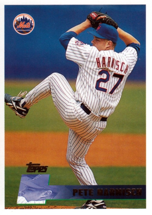 Random Baseball Card #2109: Pete Harnisch, pitcher, New York Mets, 1996, Topps.