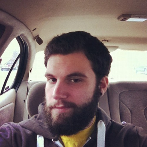 Having a good hair and beard day on this cloudy New England day. #beard #gpoy #cub #work #newengland