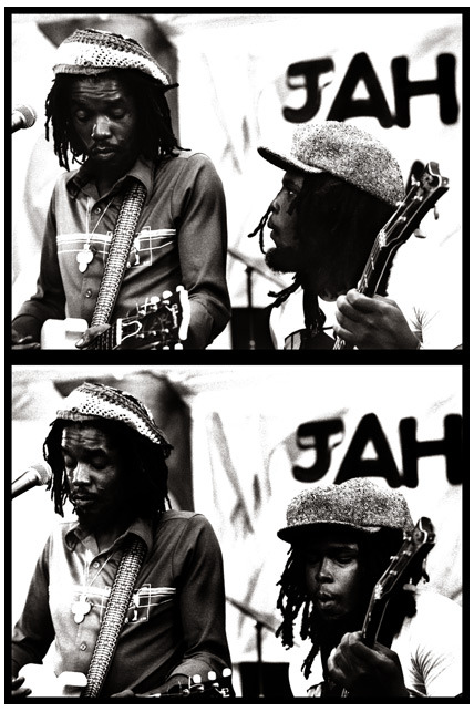 exiledpoetssociety:  Peter Tosh and Robbie Shakespeare UrbanImage