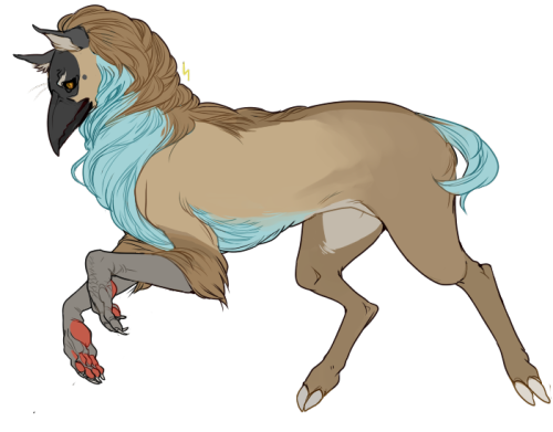 talikira:  lacebrain:  a gryphon based off this bird and a deer.  Oh boy~ ♥