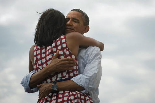 wnyc:  This is the image President Obama shared on Facebook after his victory speech last night. Facebook says it's the most shared image in the history of their platform (as of this writing it has more than 3.4 million likes).  Were you just reelected president of the United States, what image would you've posted to your fans?