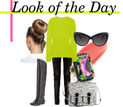 Look of the Day  Michael Kors  sweater, $765 Edun leather pants, $1,000 Belle by Sigerson Morrison flat boots, $299 H&M bag, $16 Sorrelli ring, $35 Gucci sunglasses, $285 Stila lip gloss, $22